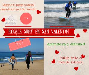 Clases de surf san valentin